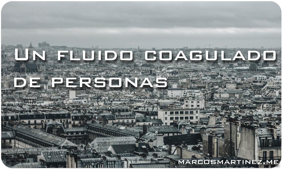 Un fluido coagulado de personas