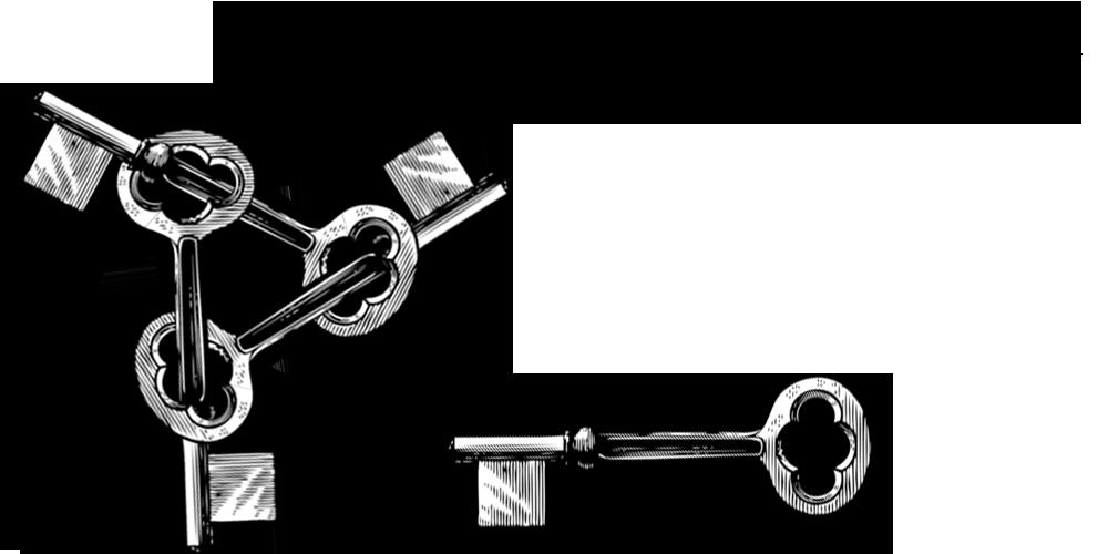 Cartel «Las llaves maestras»