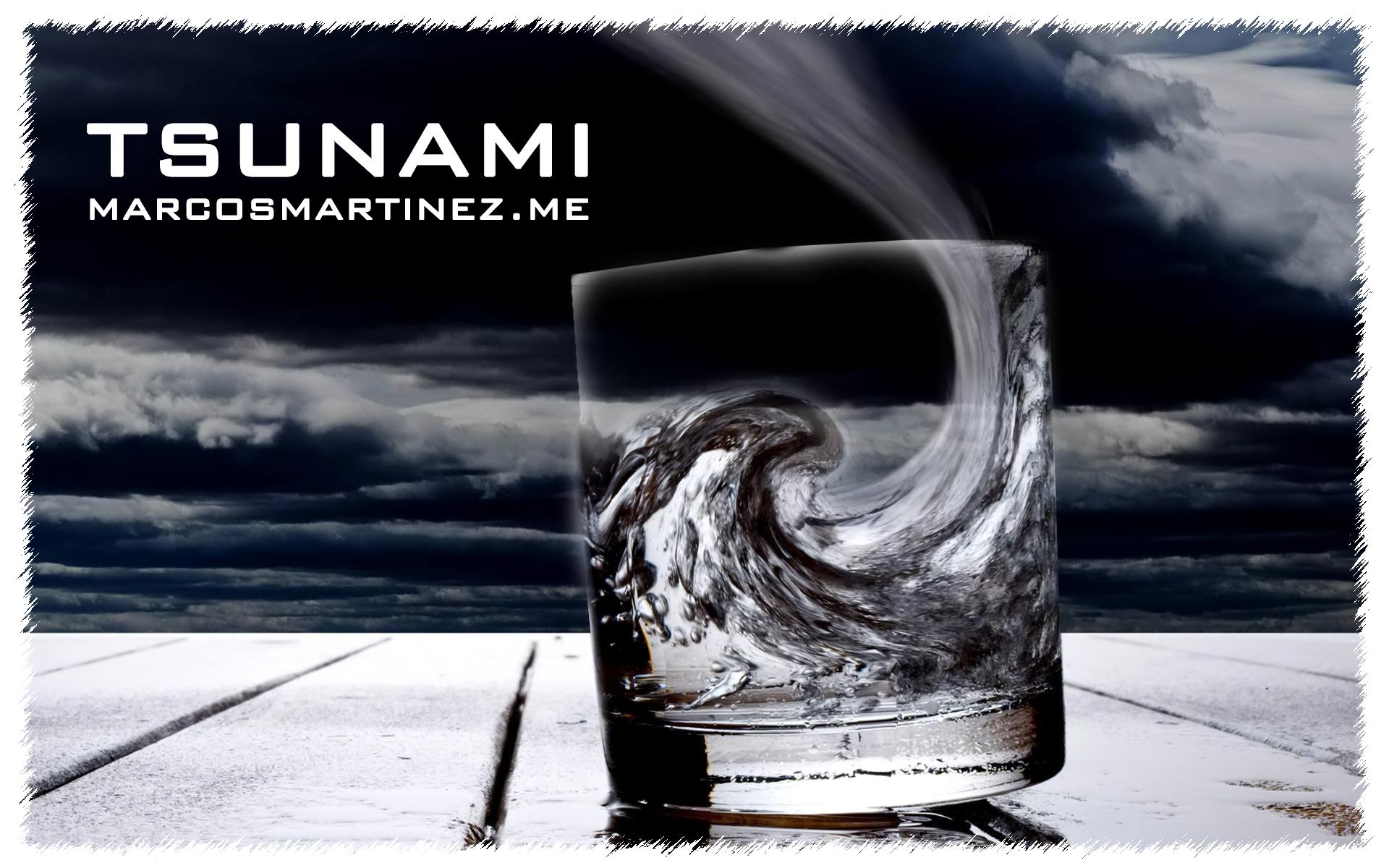 Cartel «Tsunami»