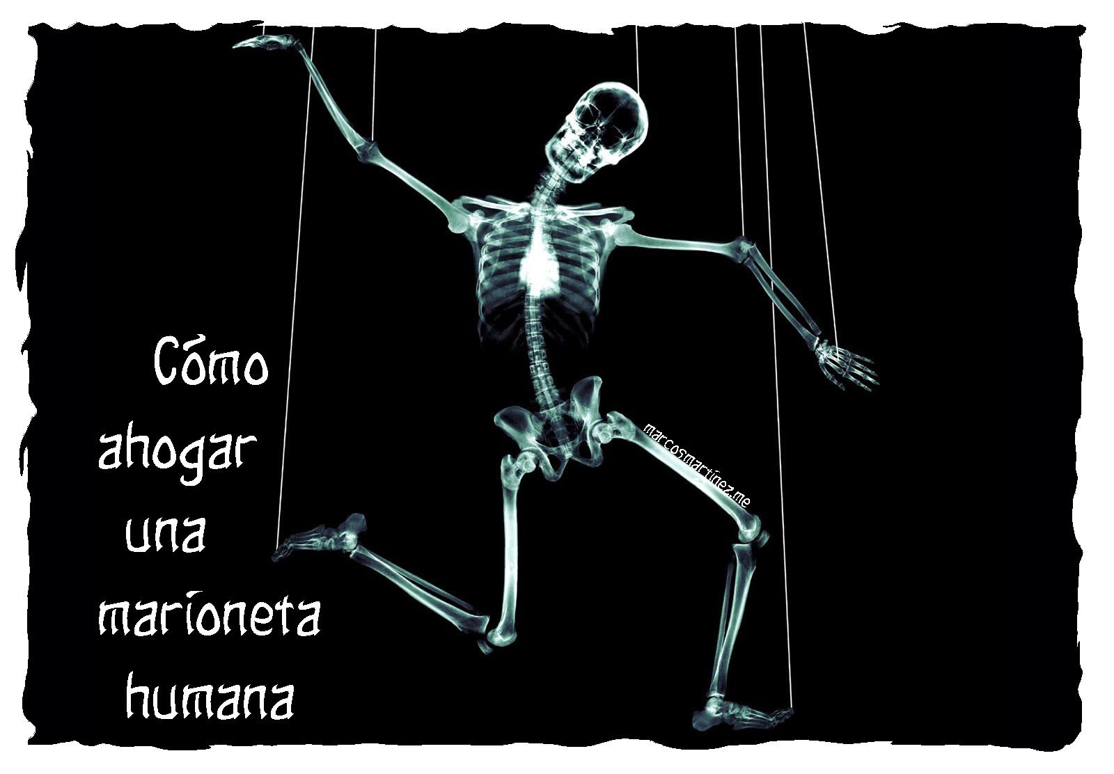 Cartel «Cómo ahogar una marioneta humana»