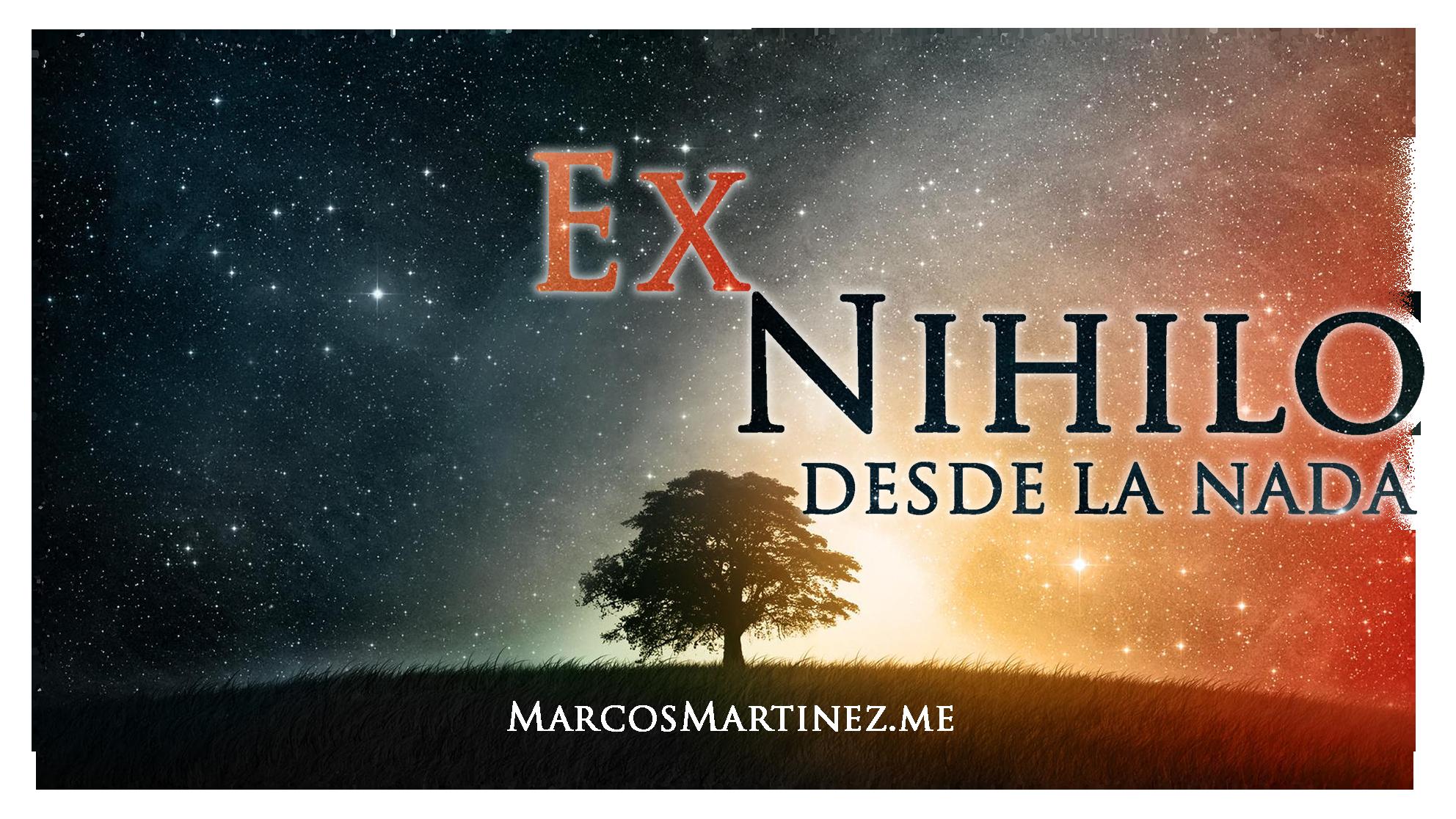 Cartel «Ex Nihilo desde la nada 2»