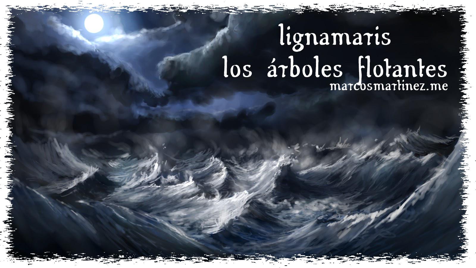 Cartel «Lignamaris, los árboles flotantes»